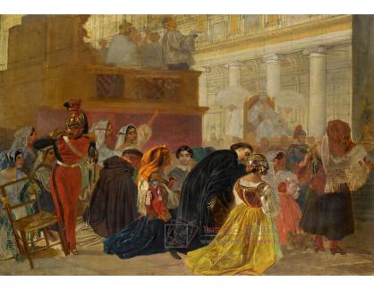 VR-442 Karl Pavlovič Briullov - Po návratu papeže Piuse IX do Říma roku 1850