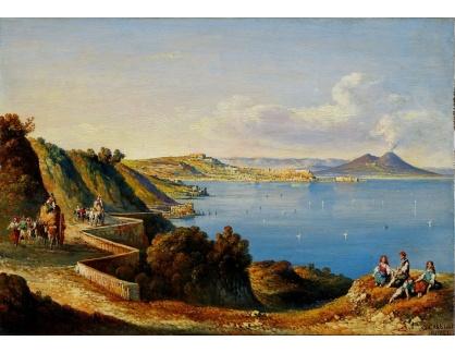 Slavné obrazy III-DDSO-529 Consalvo Carelli - Pohled na Neapol