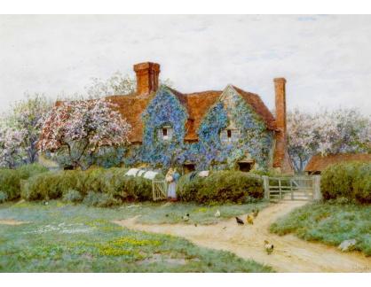 VANG216 Helen Allingham - Dům na Penstreet, Buckinghamshire