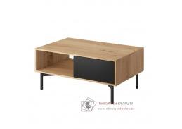 FORSO FL 102, konferenční stolek, dub artisan / černá