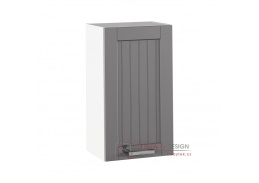 JULIA 04, horní skříňka 1-dveřová, bílá / tmavě šedá