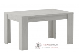 KORA 120, jídelní stůl rozkládací, jasan bílý