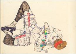 VES 10 Egon Schiele - Žena ležící na zádech