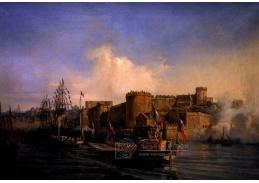 Slavné obrazy VI-109 Auguste Mayer - Napoleon při návštěvě Brestu