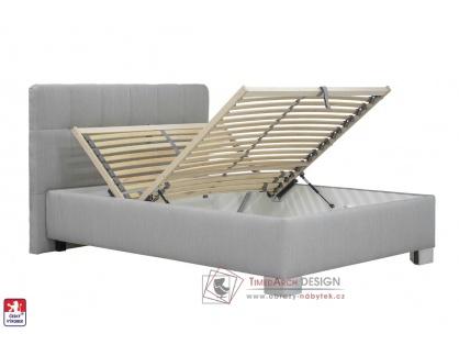 KELLY, postel 140x200cm BEZ matrace, výběr čalounění