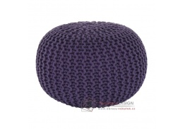 GOBI 2, pletený taburet, fialová bavlna