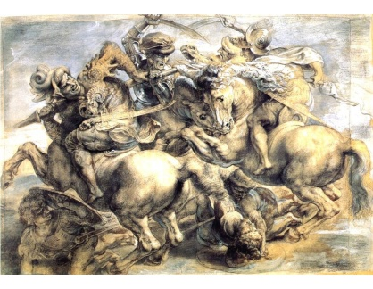VRU156 Peter Paul Rubens - Bitva o vlajku během bitvy o Anghiari