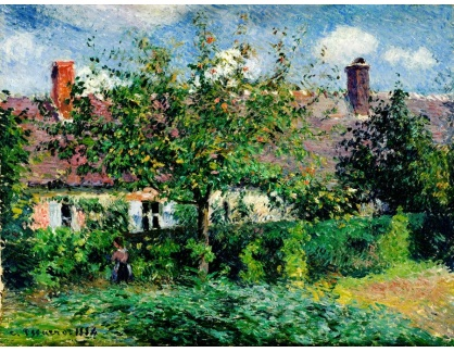 VCP-387 Camille Pissarro - Selský dům u Eragny