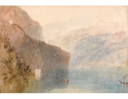 Joseph Mallord William Turner - Luzernské jezero a kaple Tell