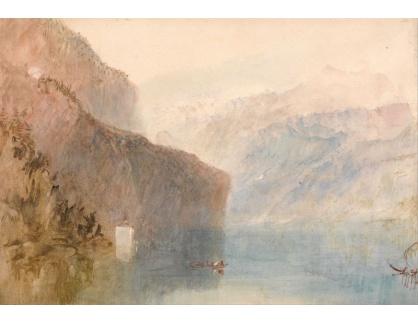 Joseph Mallord William Turner - Luzernské jezero a kaple Tell