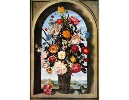 VH601 Abraham Bosschaert - Kytice v okně