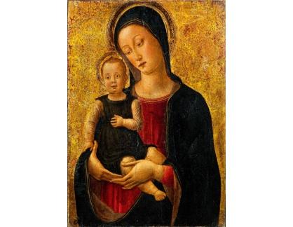 Slavné obrazy I-DDSO-46 Bartolomeo Vivarini - Madonna s dítětem