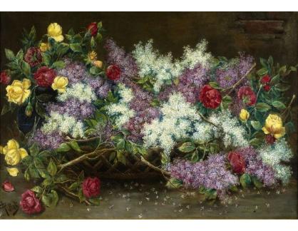 Slavné obrazy XVI-276 August Pollak - Šeřík a růže