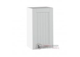 JULIA 04, horní skříňka 1-dveřová, bílá / světle šedá