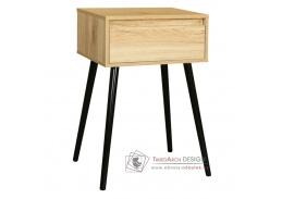 ALYSANDRA 1, příruční - noční stolek, černá / dub