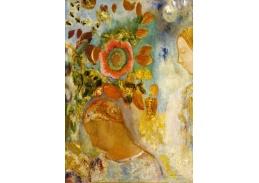 A-359 Odilon Redon - Dvě mladé dívky mezi květinami
