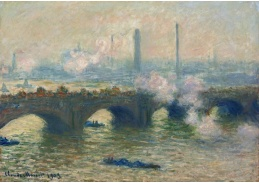 D-7079 Claude Monet - Most Waterloo v šedivý den