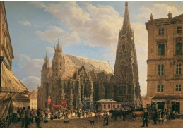 D-7613 Rudolf von Alt - Katedrála svatého Štěpána ve Vídni