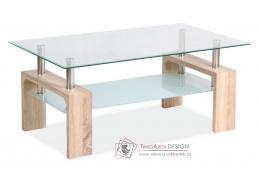 Konferenční stolek LISA BASIC II dub sonoma / sklo