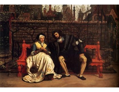 R16-102 James Tissot - Faust a Marguerite v zahradě