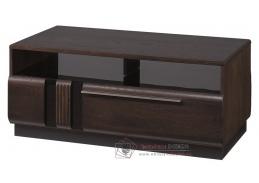 PORTI, konferenční stolek P-41, dub čokoládový / černé sklo