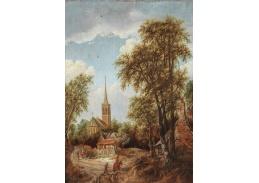 D-6119 Roelof van Vries - Postavy na cestě lemované stromy