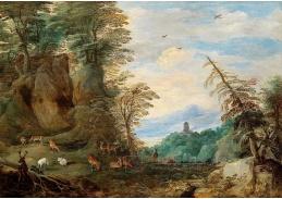 BRG-07 Jan Brueghel a Joos de Momper - Hornatá krajina s jeleny