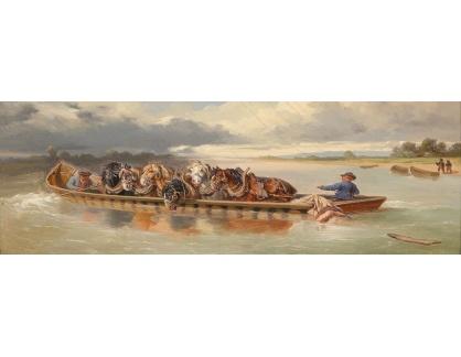 VP412 Neznámý autor - Převoz koní přes jezero