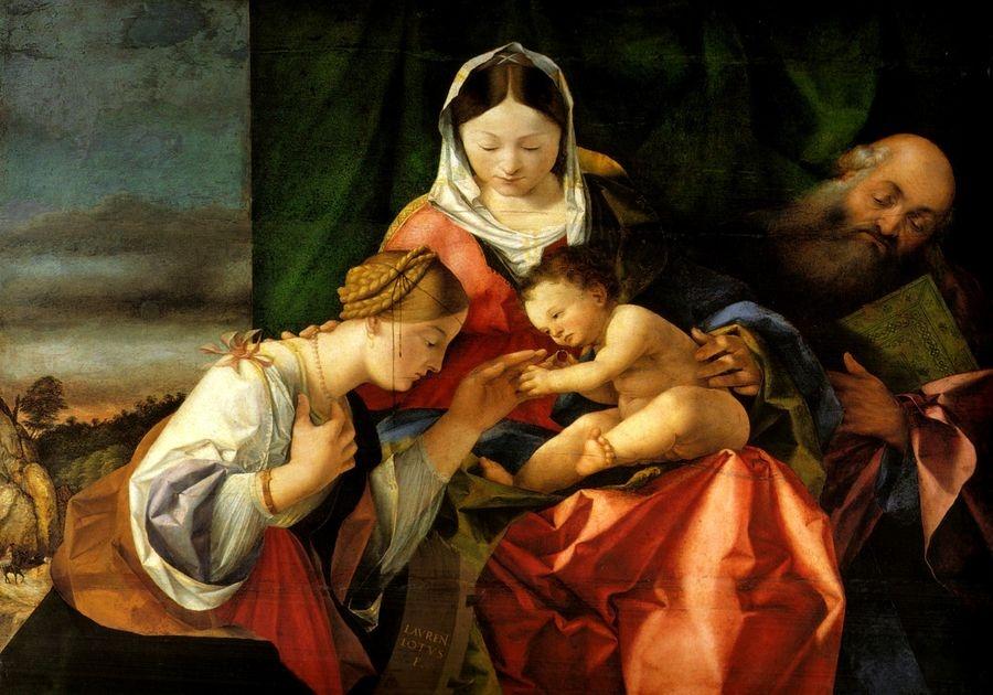 VLL 05 Lorenzo Lotto - Mystická svatba svaté Kateřiny