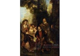 Krásné obrazy II-101 Jean Antoine Watteau - Koncert