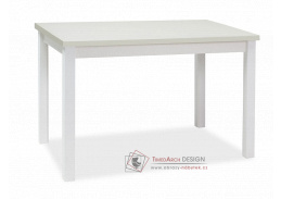 ADAM, jídelní stůl 120x68cm, bílá