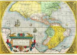 Mapa AMERICAE SIVE, 90x60cm