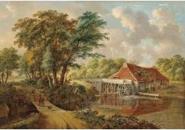 D-5813 Andries Vermeulen - Lesní krajina s vodním mlýnem