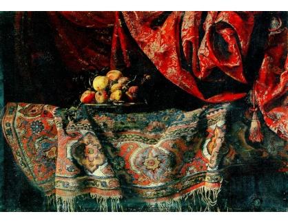 Slavné obrazy III-DDSO-585 Francesco Noletti - Zátiší s ovocem na koberci