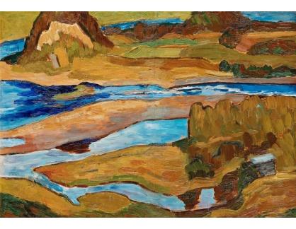 Slavné obrazy IX DDSO-674 Helmer Osslund - Břehy řeky