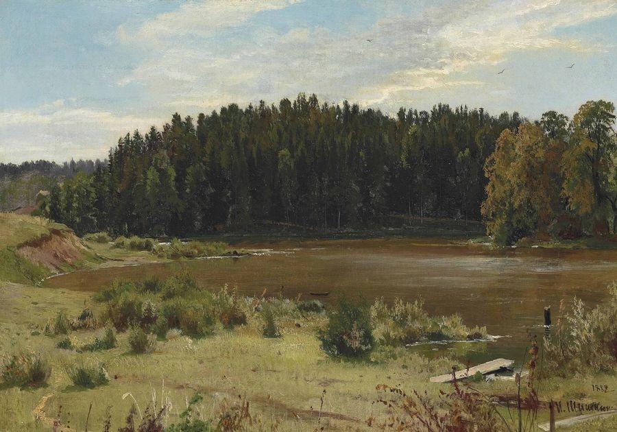 VR-344 Ivan Ivanovič Šiškin - Řeka v lese
