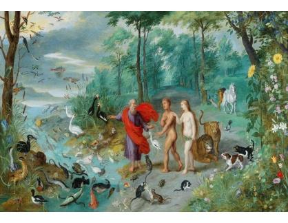 Slavné obrazy IX DDSO-732 Jan Brueghel - Adam a Eva v ráji