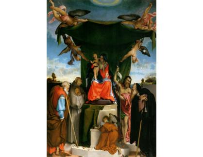 VLL 37 Lorenzo Lotto - Madonna na trůnu s anděly a světci