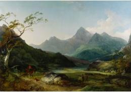 Slavné obrazy XIV-10 Philipp James de Loutherbourg - Krajinomalba
