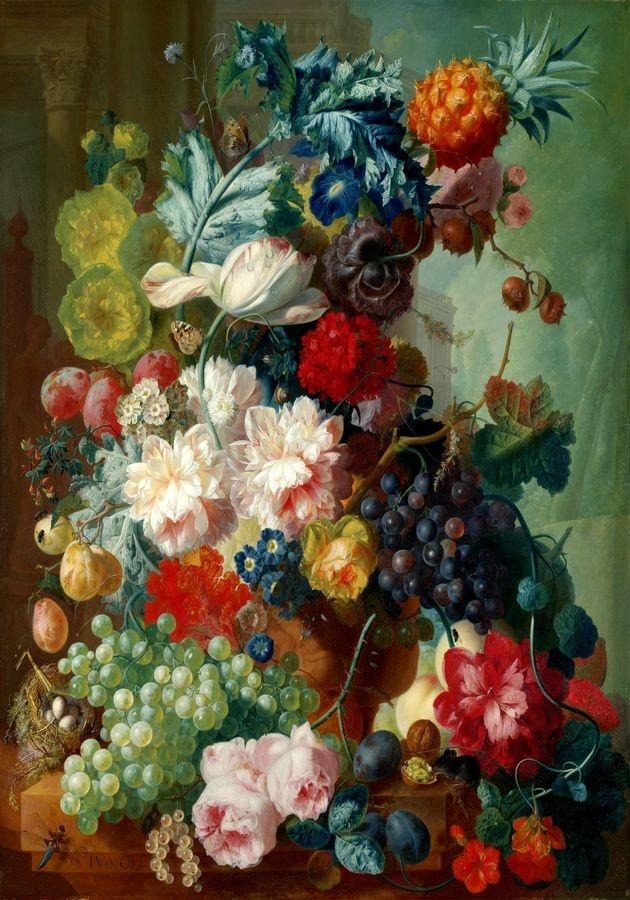 Krásné obrazy V-1 Jan van Os - Květinové zátiší