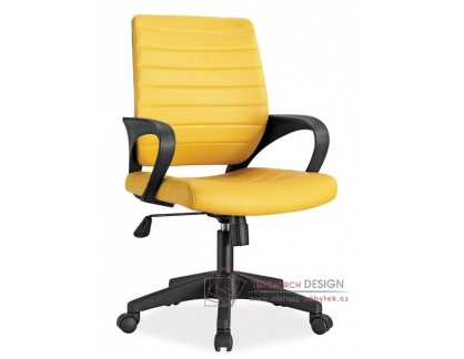 Kancelářské křeslo Q-051 ekokůže žlutá