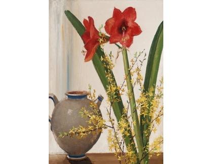 Slavné obrazy I-DDSO-316 Olle Hjortzberg - Zátiši s květinami a džbánem