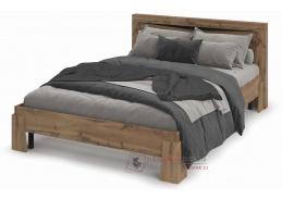 PAOLA, postel 160x200cm, dub kraft zlatý / wenge