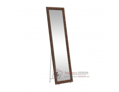 PANTOS, stojací designové zrcadlo, hnědá