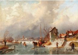 D-9340 Elias Pieter van Bommel - Zimní krajina s vodním kanálem