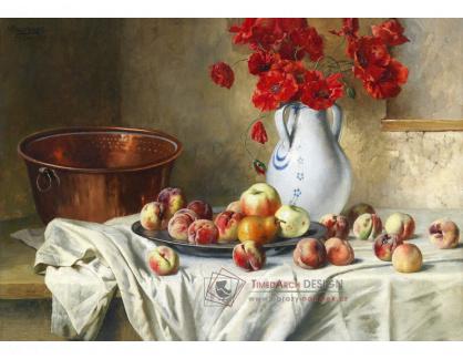 VN-196 Max Ebersberger - Zátiší s jablky a vlčími máky