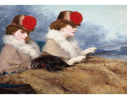 VANG225 James Hayllar - Dvě dámy v kočáru