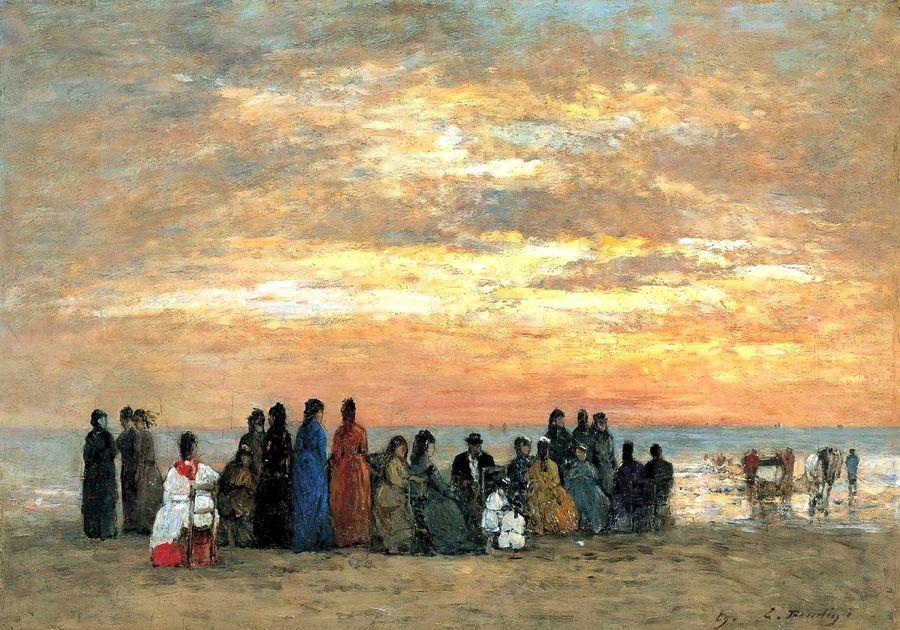 VF101 Eugene Boudin - Lidé na pláži v Trouville