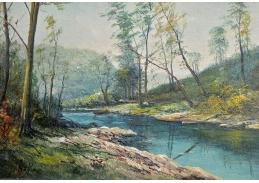 Slavné obrazy VI-102 Frederick Matzow - Krajinomalba