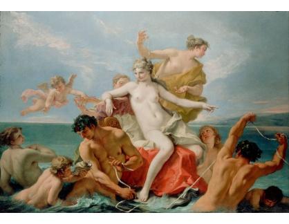 Slavné obrazy XIV-103 Sebastiano Ricci - Triumf mořské Venuše